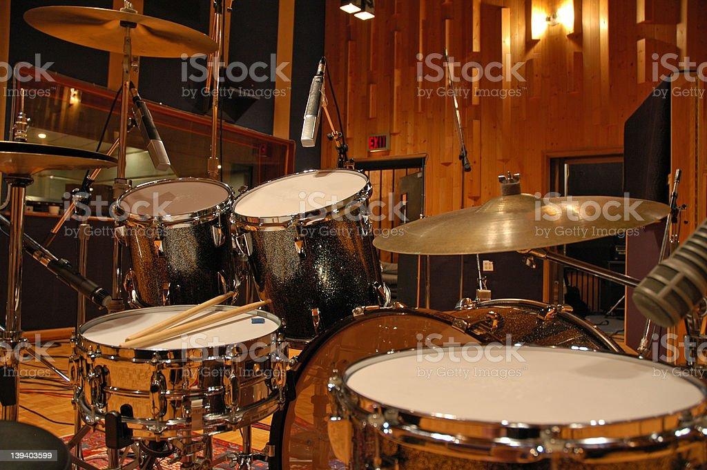 Drumming - Recording stock photo