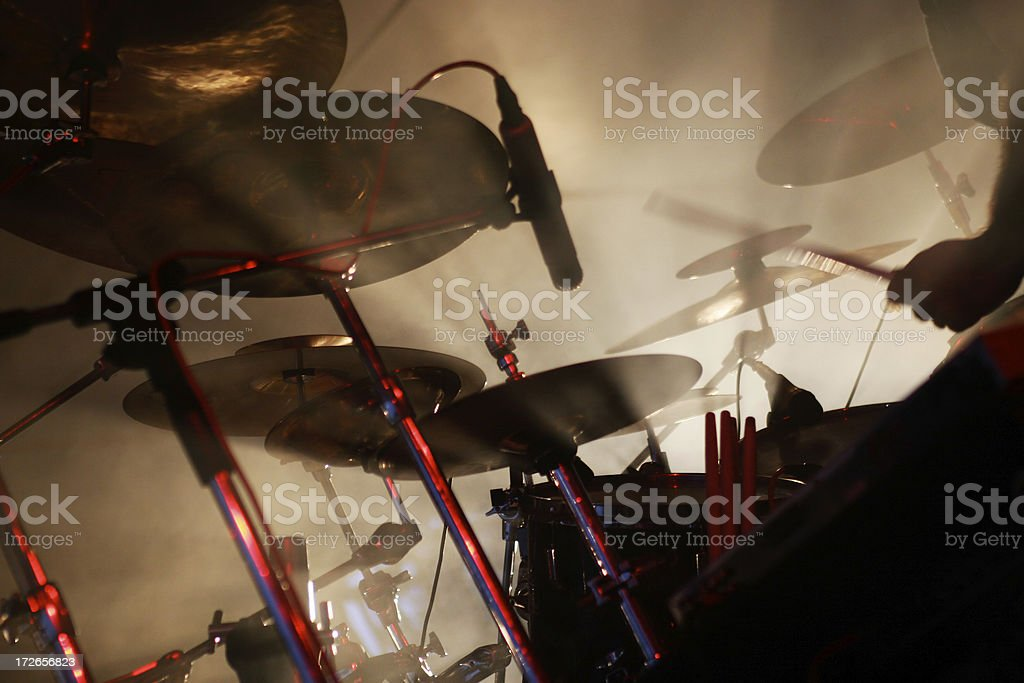 Drumms on stage stock photo