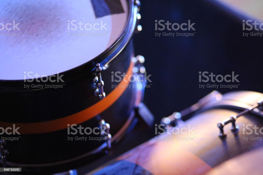 Drums at a Gig stock photo