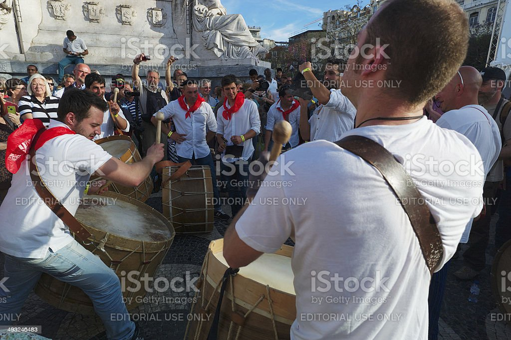 Drums in Lisbon royalty-free stock photo