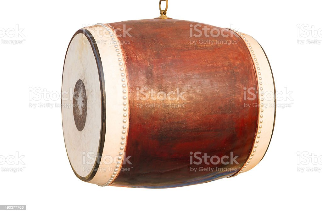 drums instrument on a white isolated background. stock photo