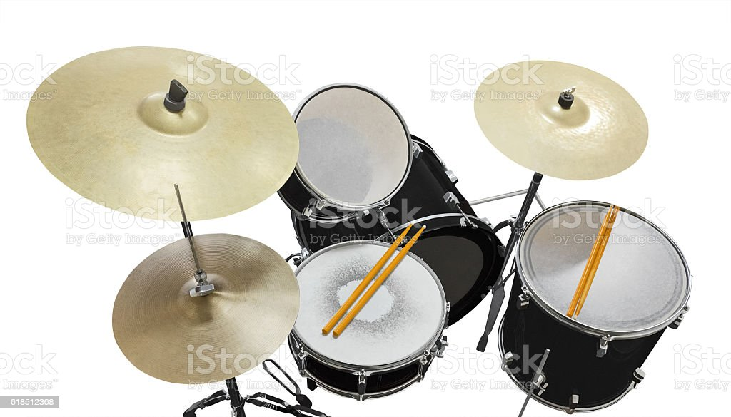 drums isolated on white stock photo