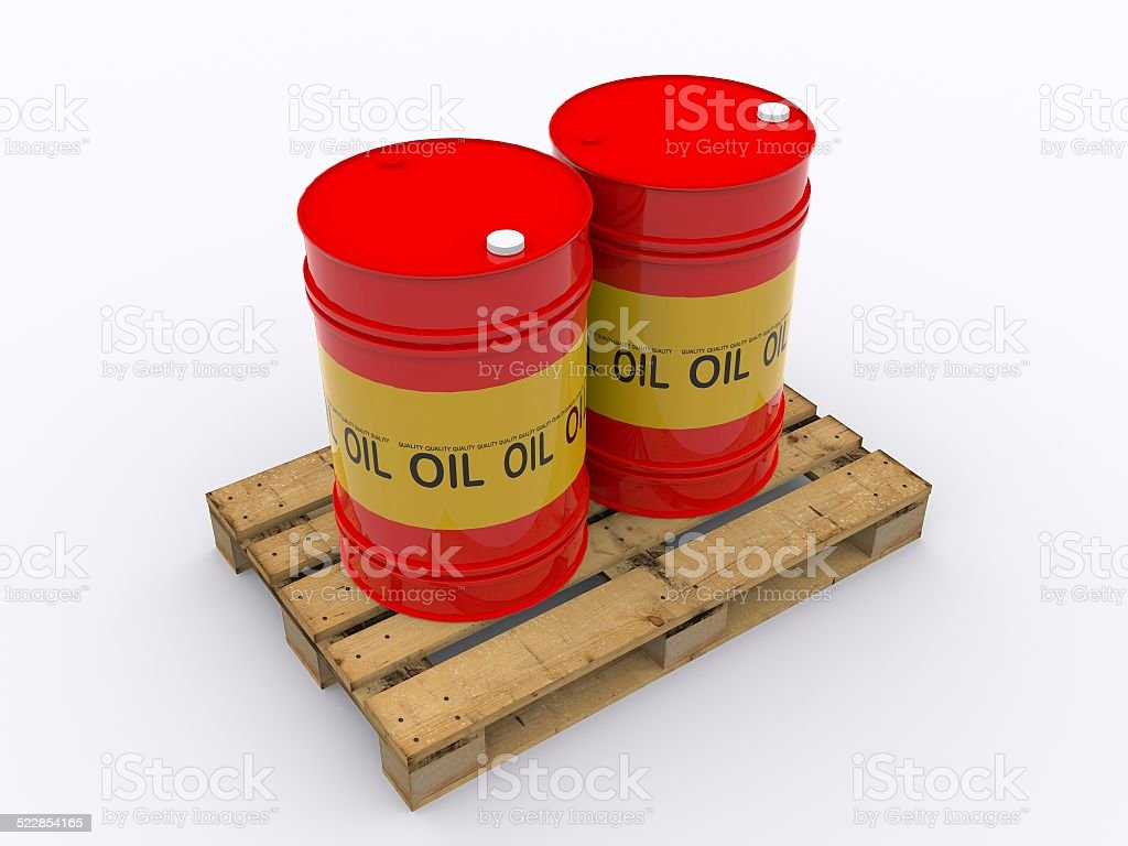 drums loaded with oil stock photo