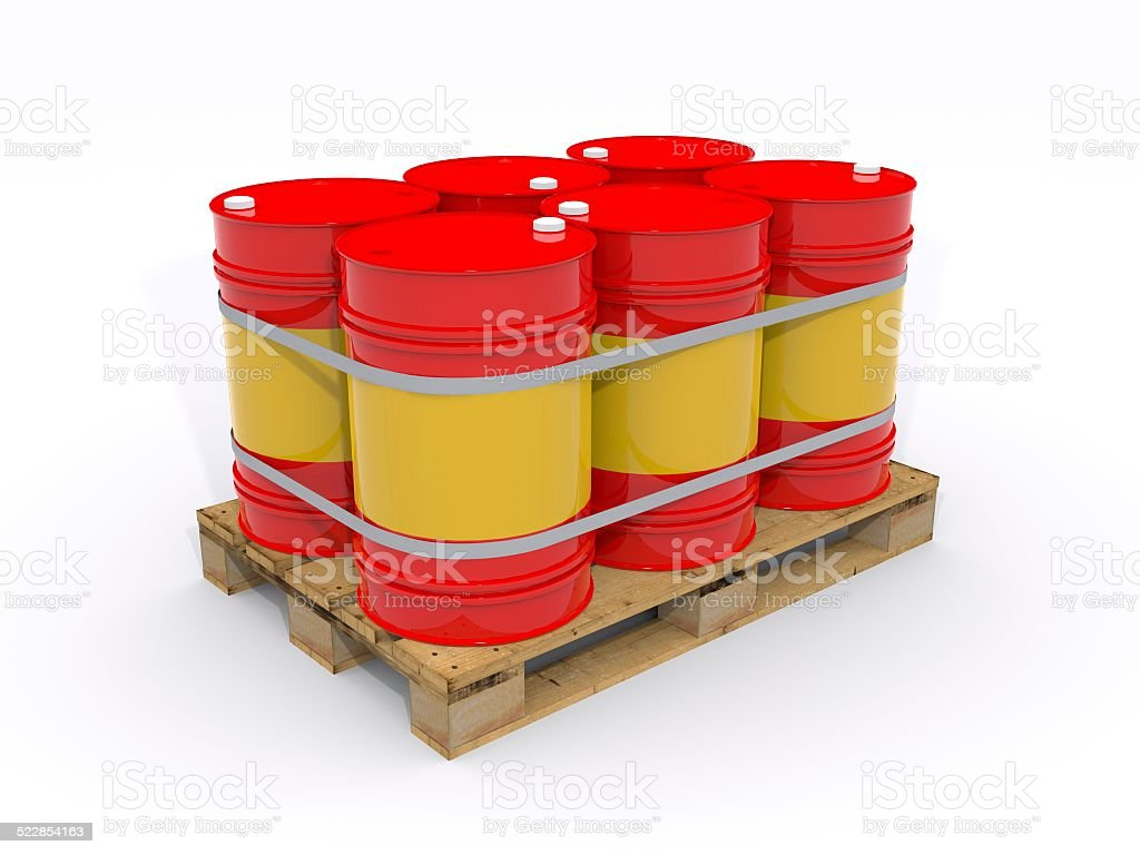 drums on a pallet stock photo
