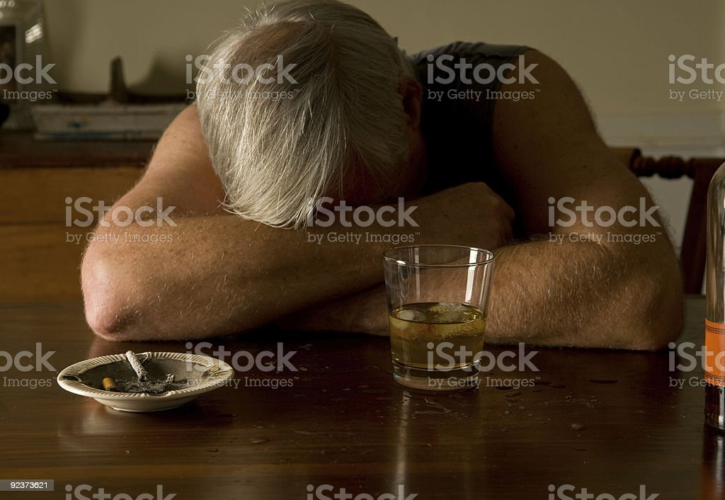 drunk and alone royalty-free stock photo