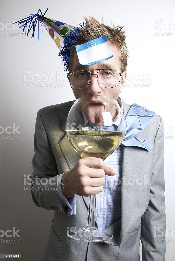 Drunk and Confused Businessman at the Office Party royalty-free stock photo