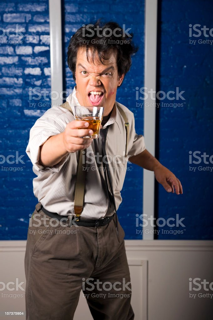Drunk at the Office Party royalty-free stock photo