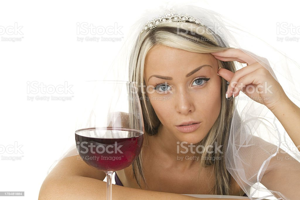 drunk bride royalty-free stock photo