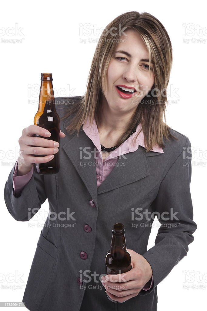 Drunk Business Woman royalty-free stock photo