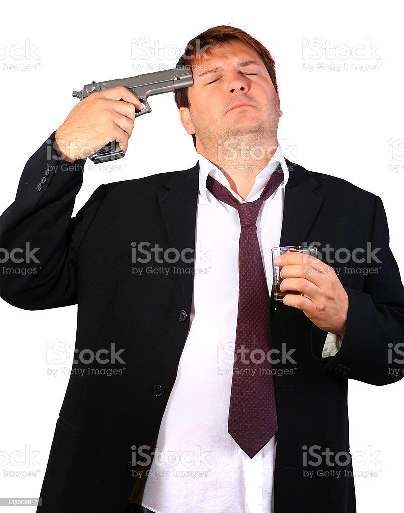 Drunk businessman stock photo