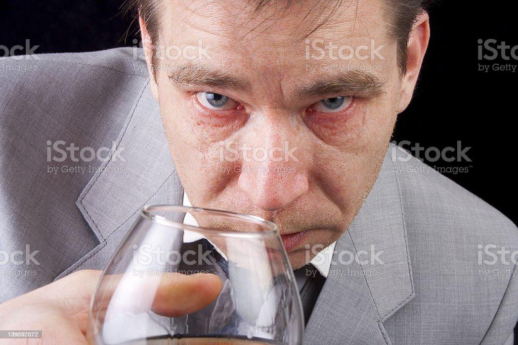 Drunk businessman royalty-free stock photo