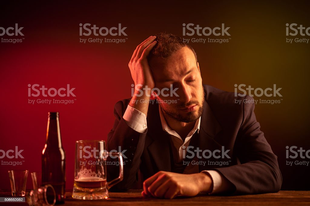 Drunk Businessman stock photo