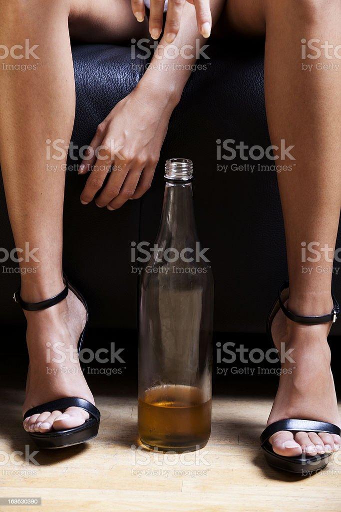 Drunk Christmas woman royalty-free stock photo