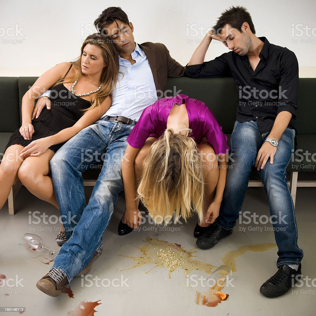 Drunk Couples royalty-free stock photo