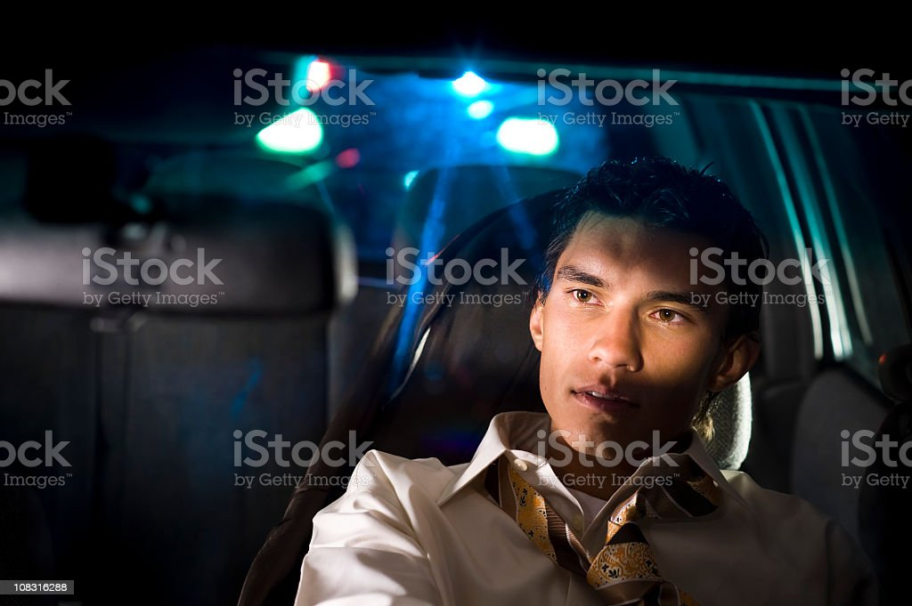 Drunk Driver being pulled over by police cops stock photo