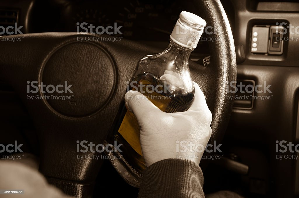 Drunk driver,social problem concept. stock photo