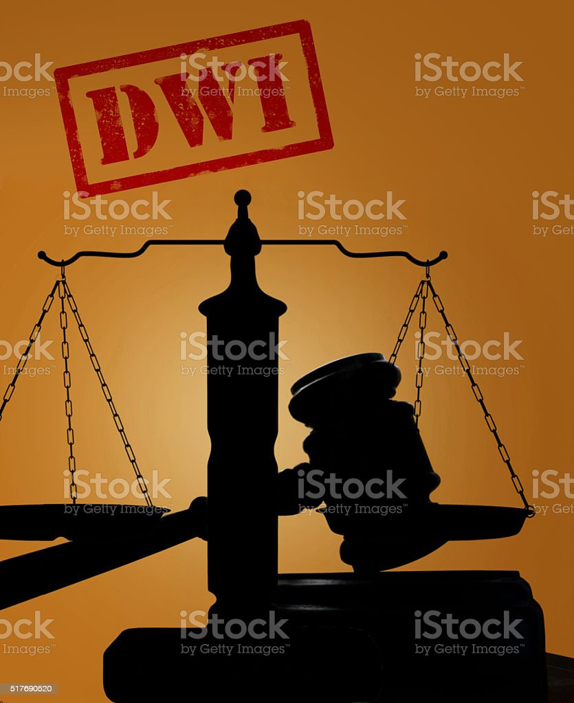 Drunk driving concept stock photo
