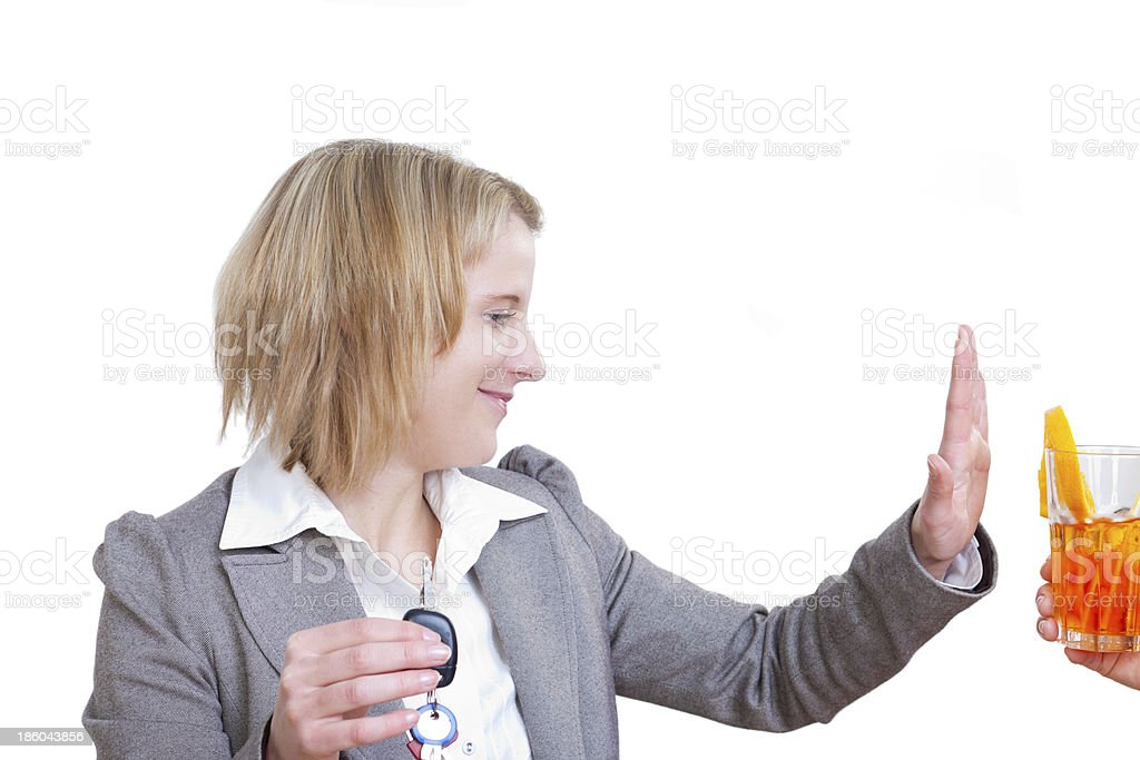 Drunk driving - no thanks stock photo