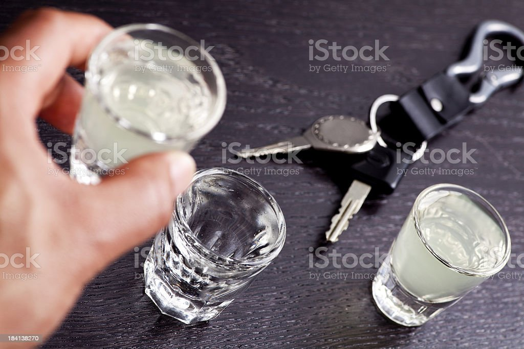 Drunk driving royalty-free stock photo