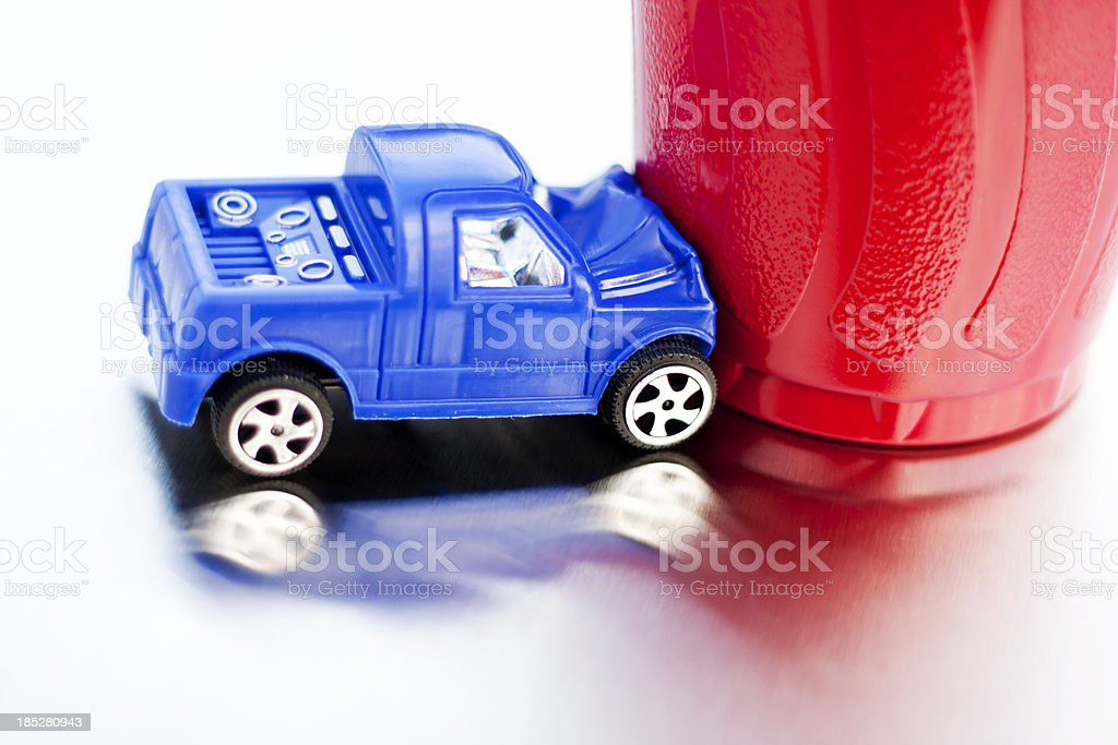 Drunk Driving - Red Party Cup Crash royalty-free stock photo