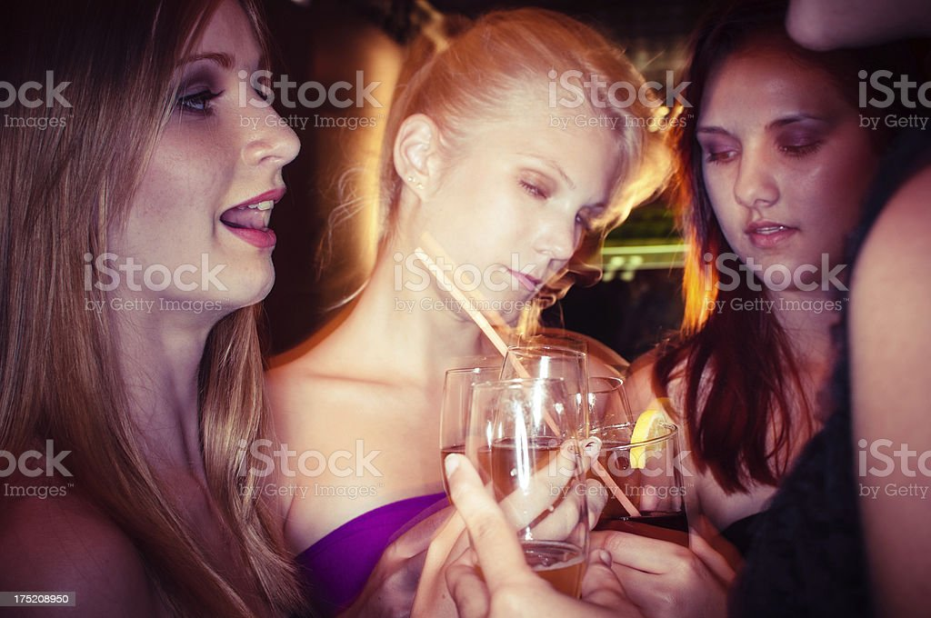 Drunk Girl stock photo