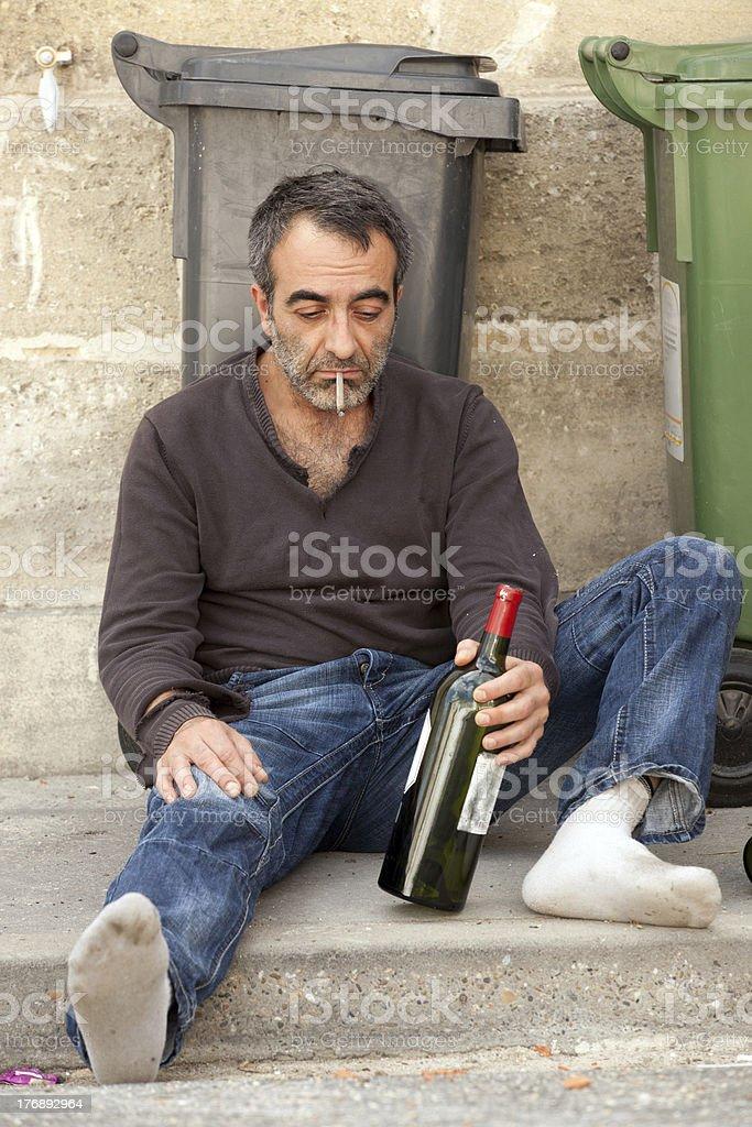 drunk hobo royalty-free stock photo