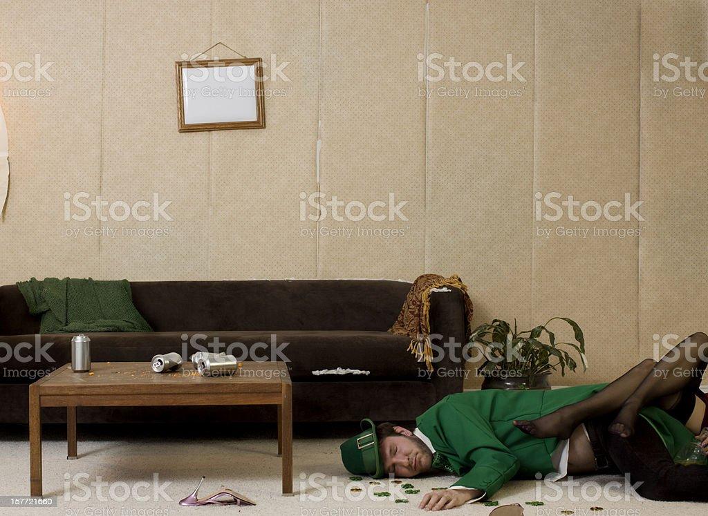 drunk leprechaun stock photo