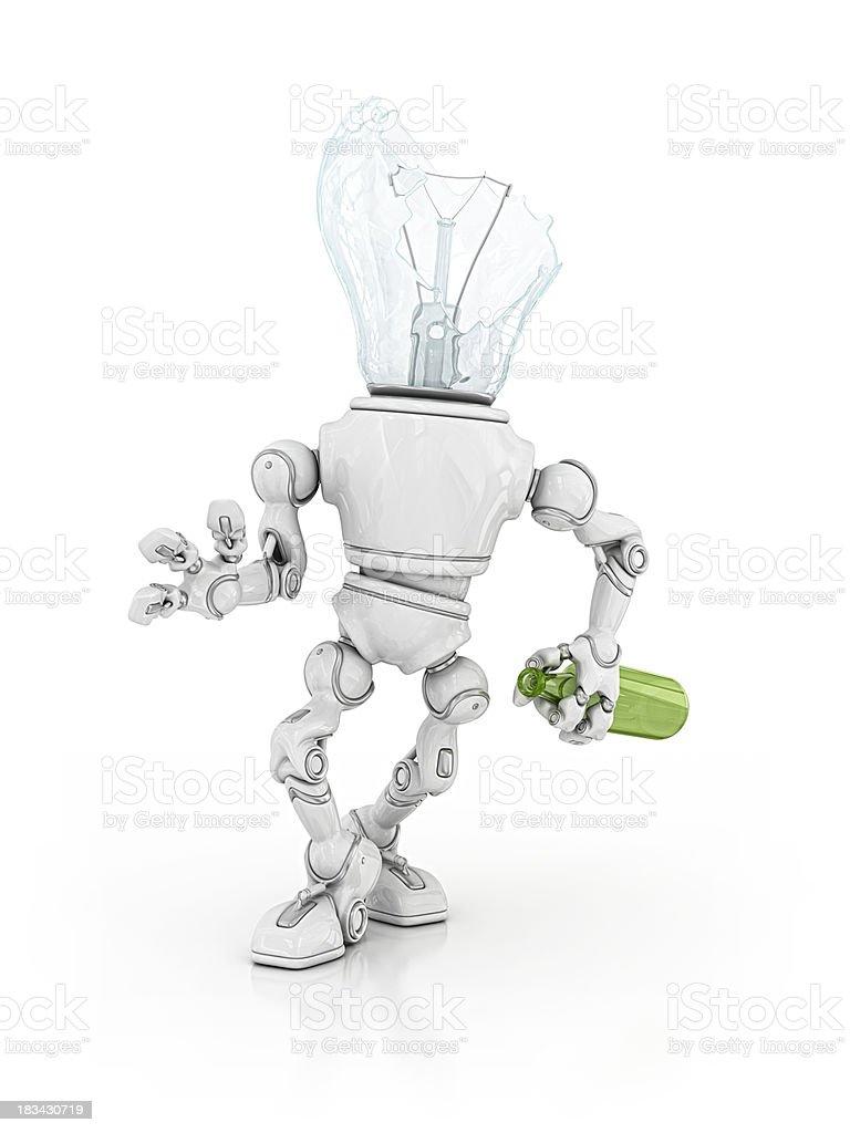 drunk light bulb robot royalty-free stock photo