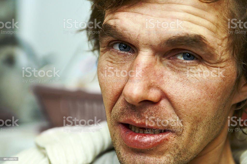 drunk man royalty-free stock photo