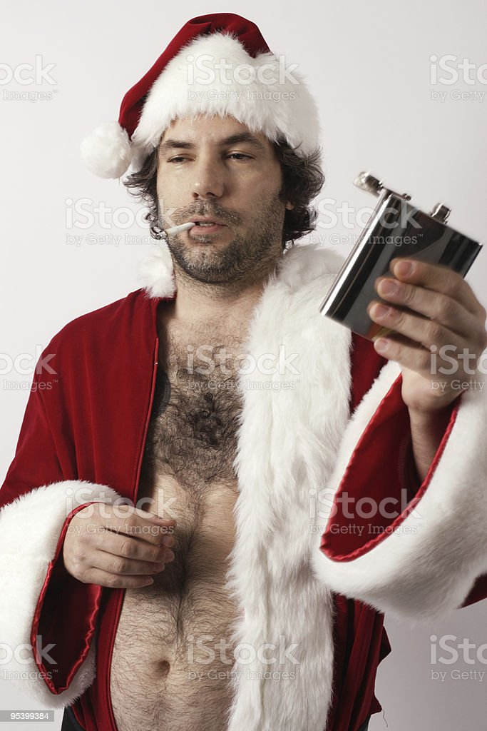 Drunk Santa Claus royalty-free stock photo