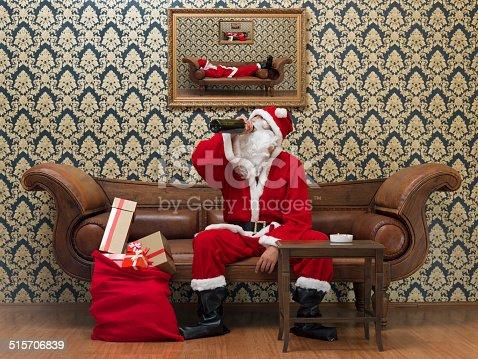 The drunk santa claus