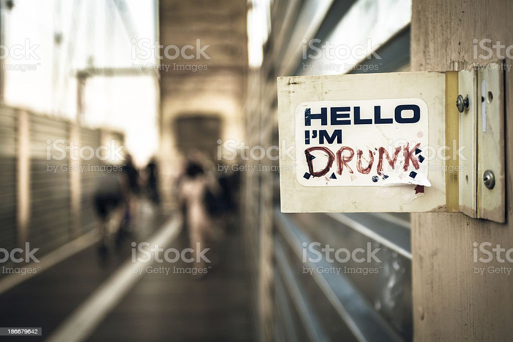 Drunk Sign in New York royalty-free stock photo