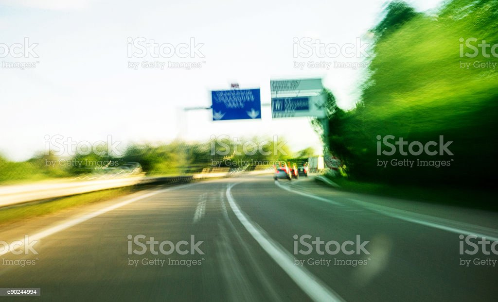 Drunk view while driwing stock photo