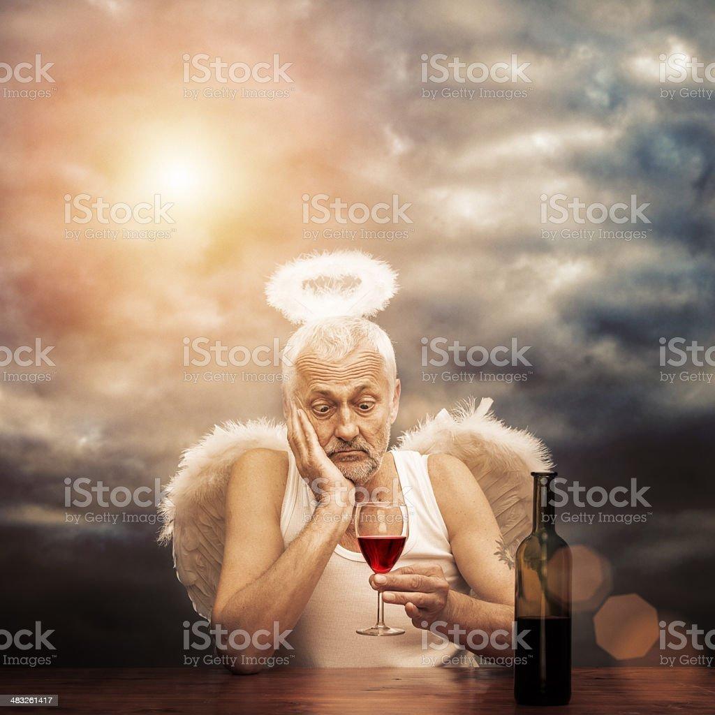 drunken angel royalty-free stock photo