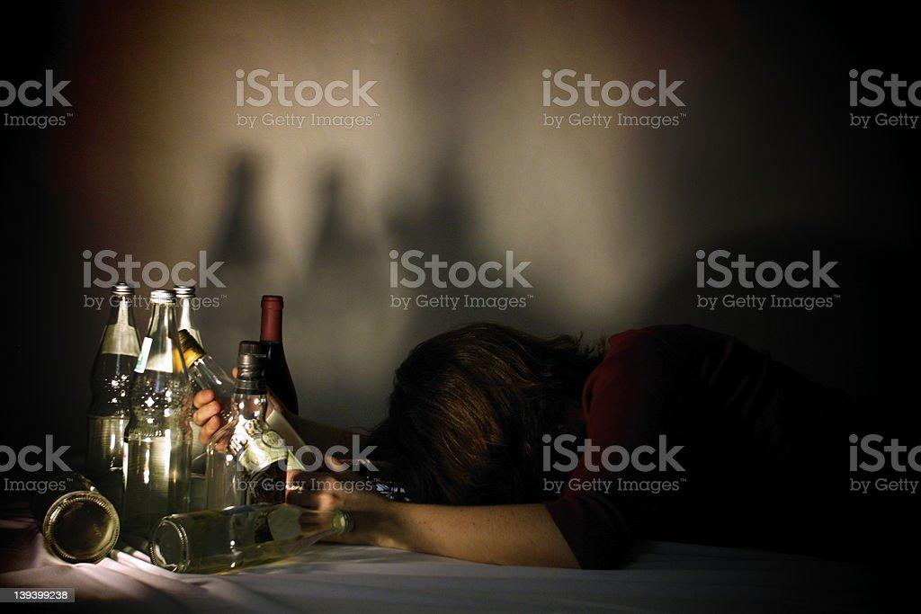 drunken girl royalty-free stock photo
