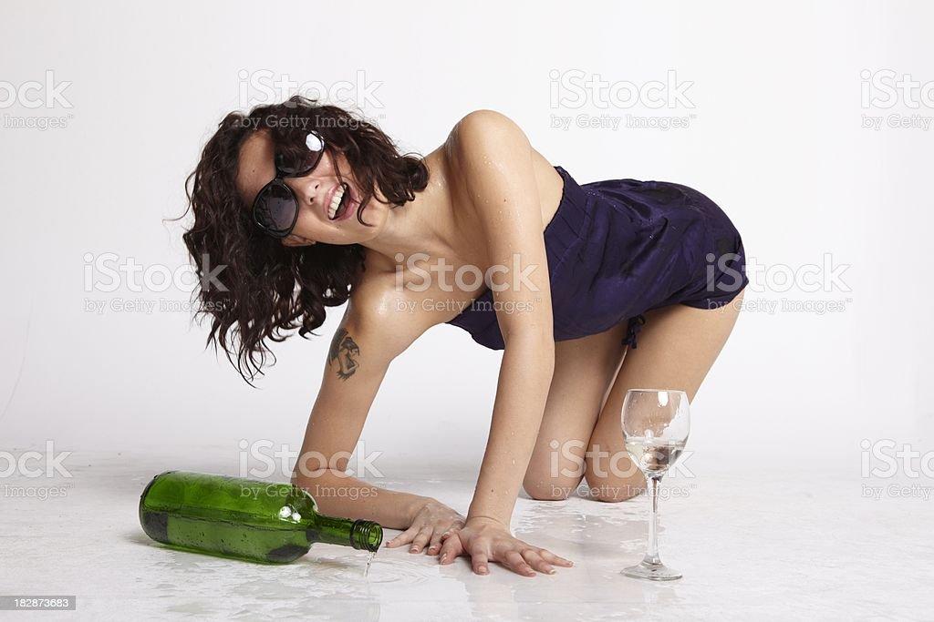 drunken laught royalty-free stock photo