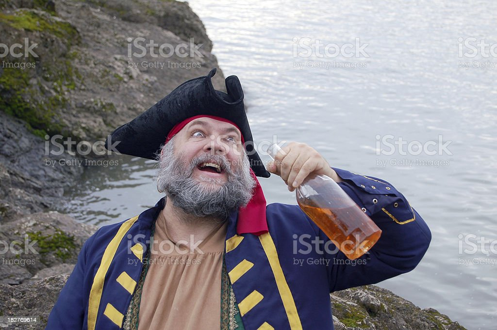Drunken Pirate stock photo
