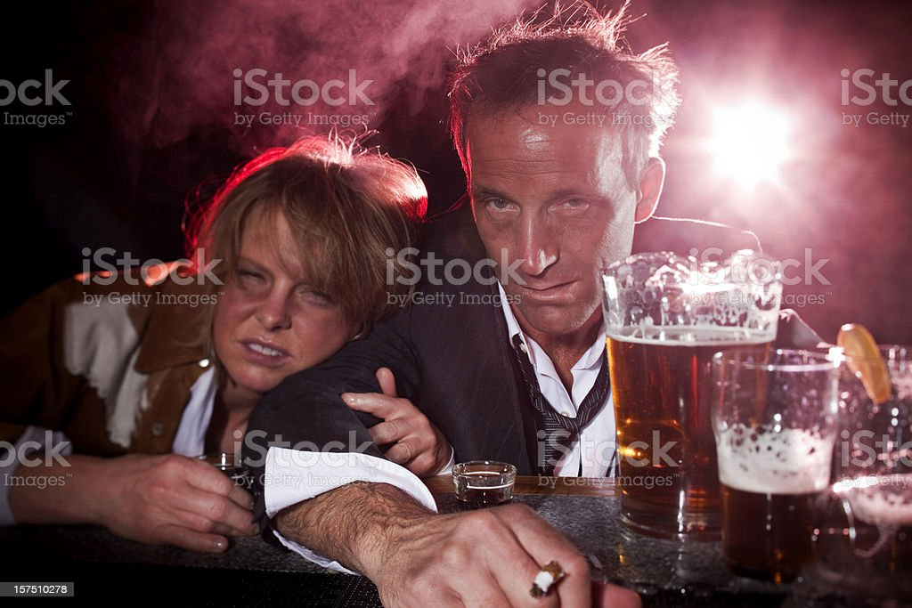 Drunks at the bar royalty-free stock photo
