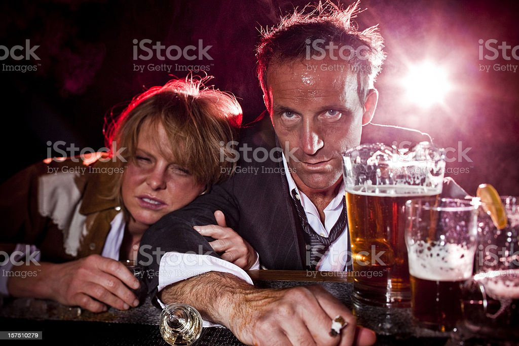 Drunks at the bar stock photo