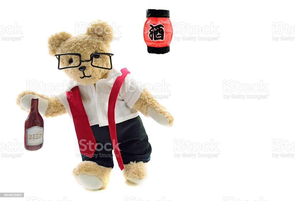 Drunk's businessman stock photo