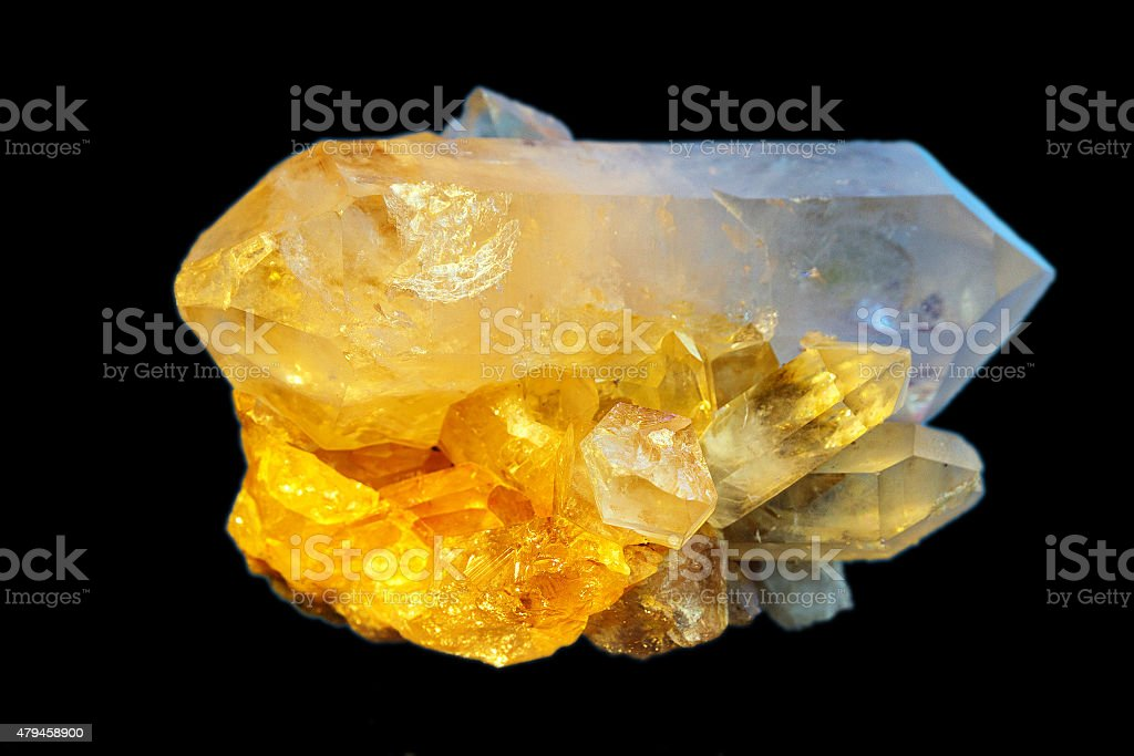 Druse yellow crystal stock photo