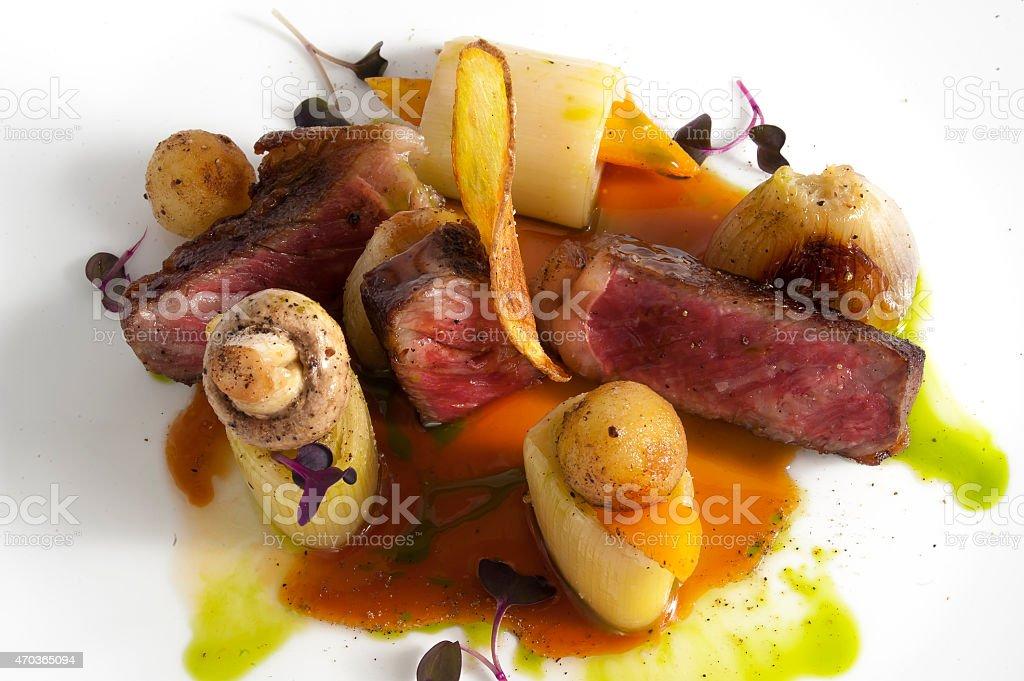 Dry Aged Steak stock photo