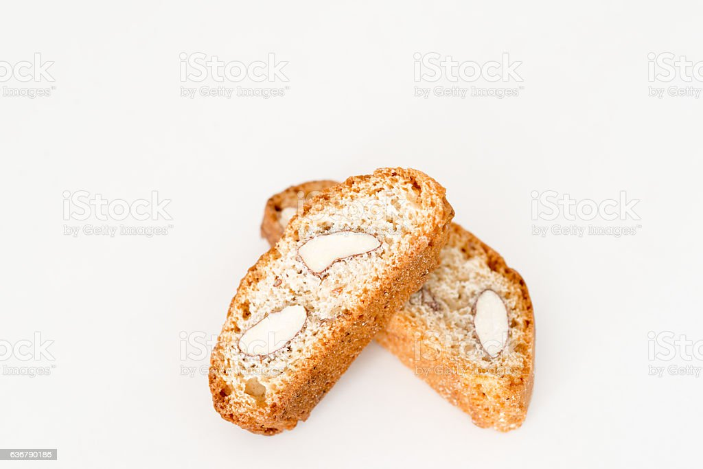 Dry almond biscuit detail stock photo