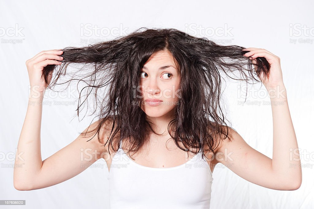 Dry and Damaged Hair stock photo