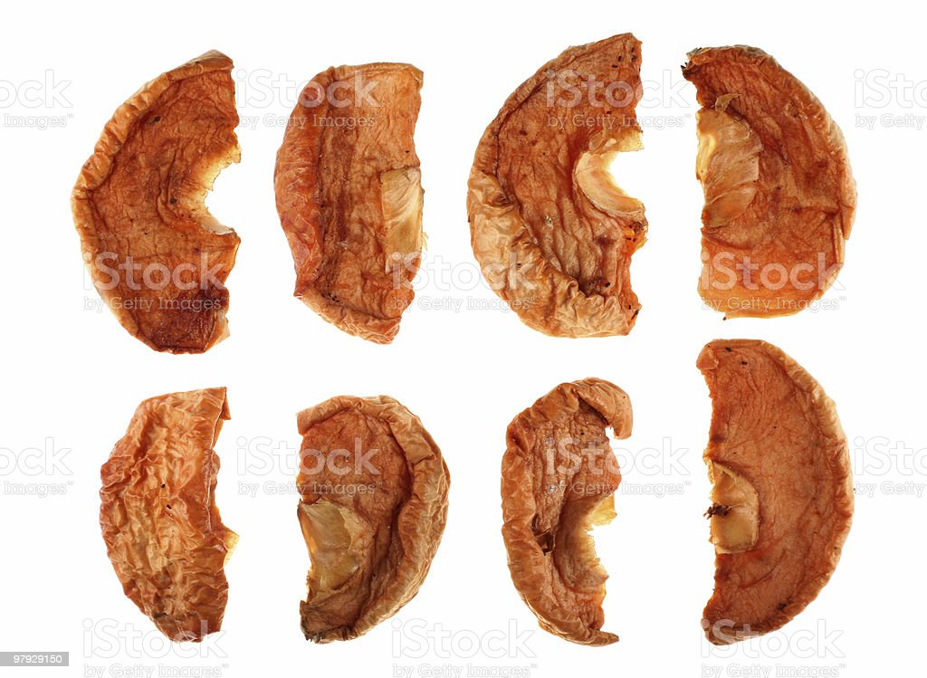 Dry apple fruit stock photo