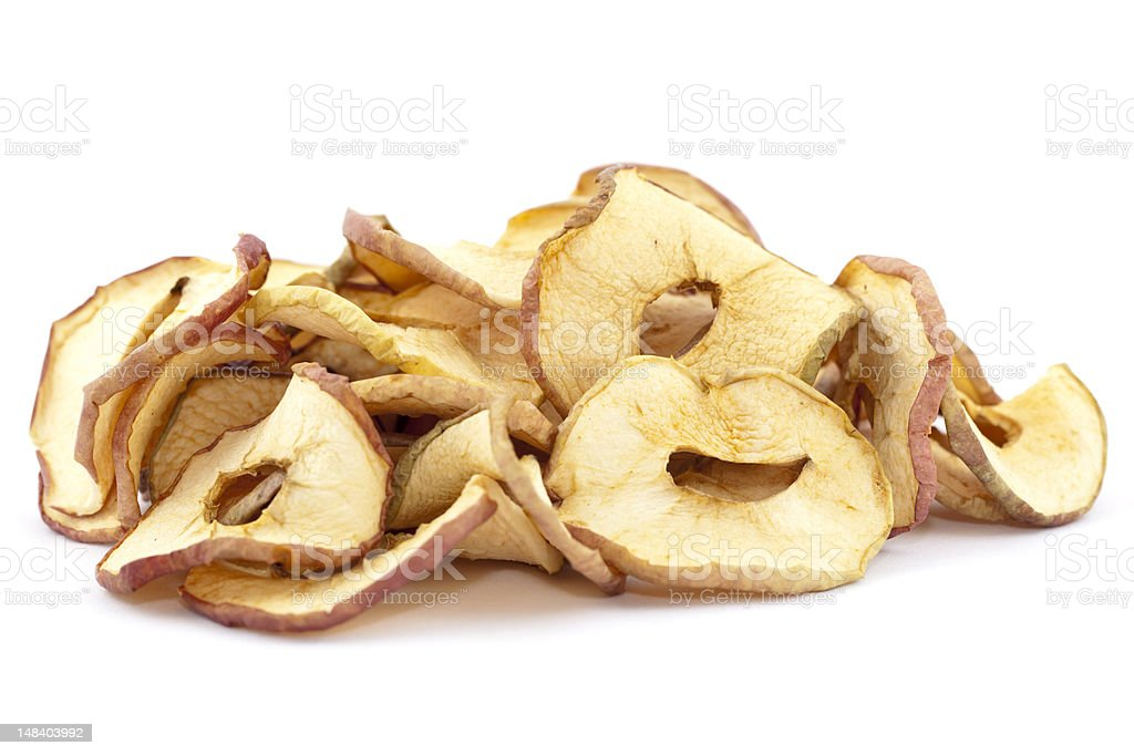dry apple stock photo