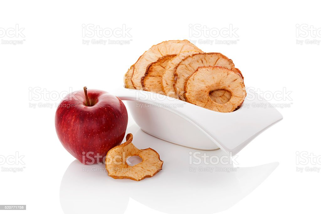 Dry apples. stock photo