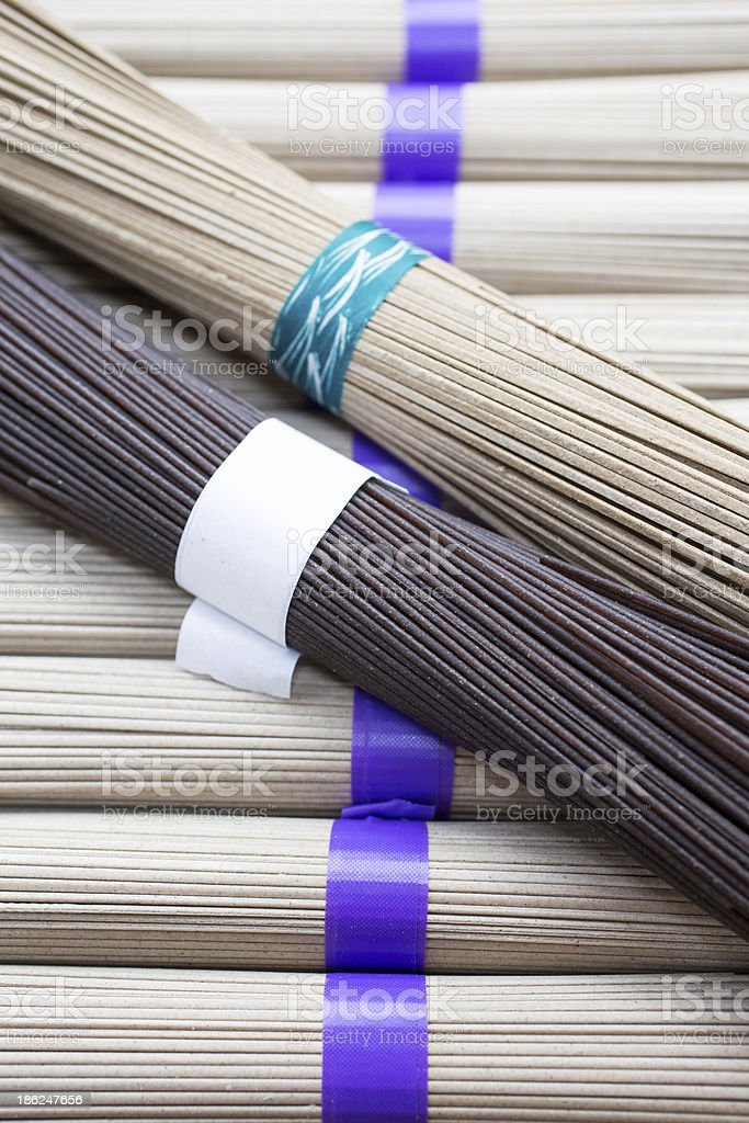 Dry Asian Noodles stock photo