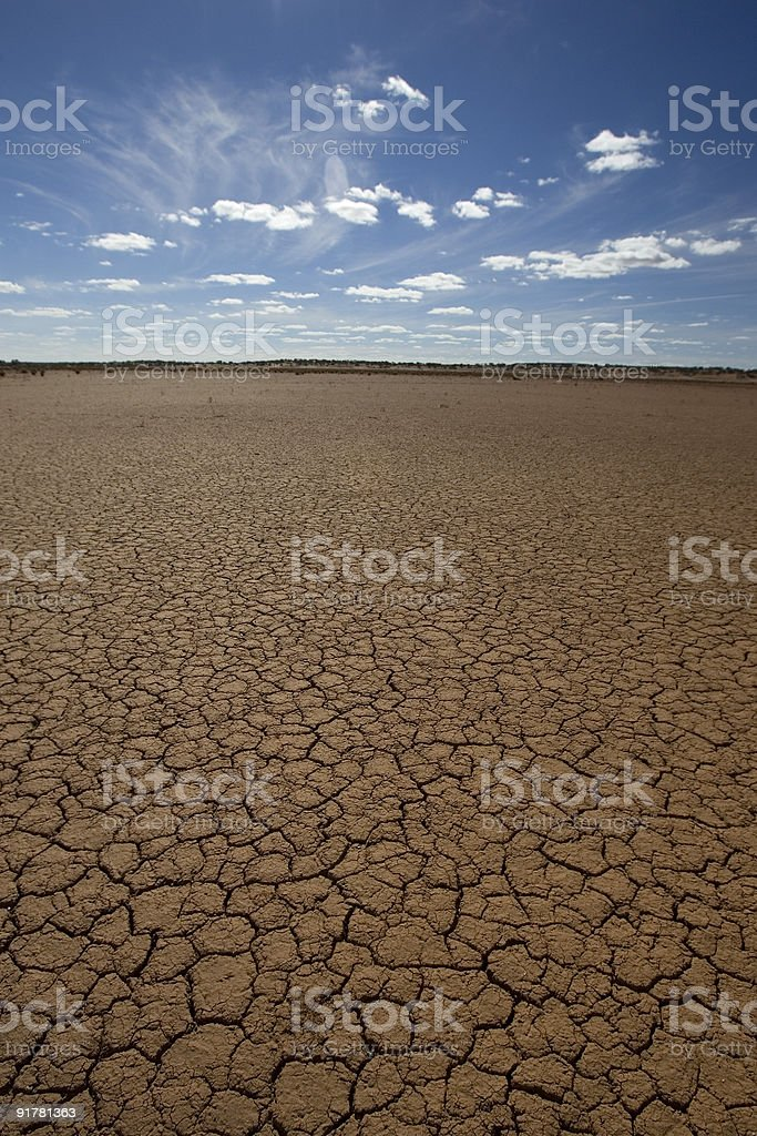 Dry Australian outback royalty-free stock photo