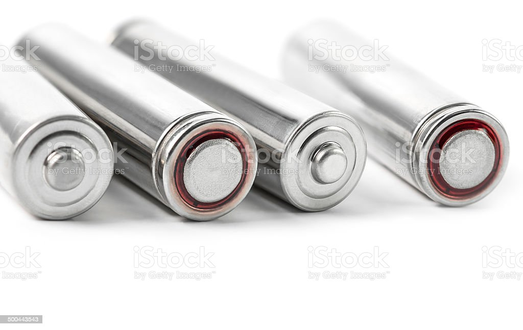 Dry battery stock photo